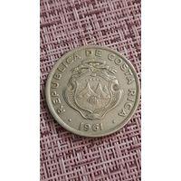 Коста-Рика 2 колона 1961 г ( тир 1 млн )