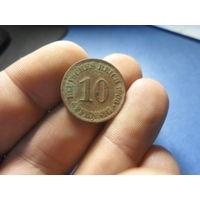 10 пфеннигов 1906 г. Германия