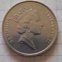 Бермуды 25 центов 1988г.