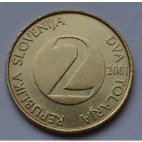 Словения 2 толара, 2001 г.