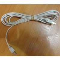 Кабель USB стандартный новый 3метра