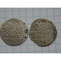 3 гроша 1622 г. ( 2 шт. одним лотом )