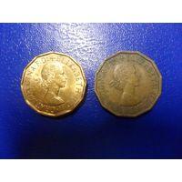 Великобритания 3 пенса 1960,1966 г.г.-цена за монету