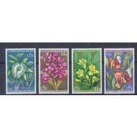 [1474] Британский Гондурас 1969. Флора.Цветы.Орхидеи.