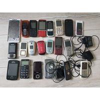 Нерабочие мобильные телефоны. Цены в списке.