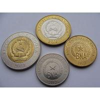 Ангола. набор 50 сентимос 1 5 10 кванза 2012 год