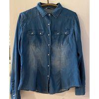 Фирменная джинсовая рубашка, р-р 46-48 (может и 50)