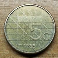 5 гульденов Нидерланды 1988