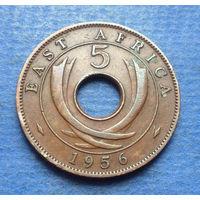 Восточная Африка Британская колония 5 центов 1956