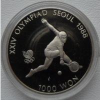 Южная Корея 1000 вон 1988 года. Теннис. Пруф! Идеальное состояние!