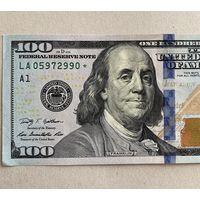 100 долларов США, 2009 г. со звездой (звёздная).