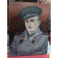 Портрет пограничника ЧФ. Холст, масло. 48*36 см.