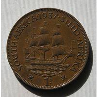 Брит. Южная Африка 1 Пенни 1937 GEORIUS VI (D)