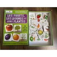 Фрукты, овощи и их растения. Развивающие картинки. На французском языке.