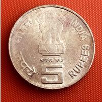 100-03 Индия, 5 рупий 2010 г. (Игры Содружества в Индии) Единственное предложение монеты данного типа на АУ
