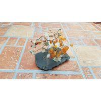 Оригинальная композиция Дерево из камня / для интерьера / высота 5 см