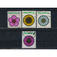 Сингапур Респ 1973 Цветы Стандарт #194-5,198,200