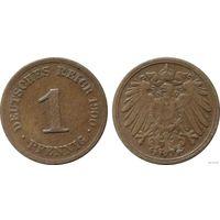 YS: Германия, Рейх, 1 пфенниг 1900F, KM# 10 (3)