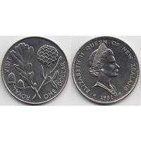 Новая Зеландия 1 доллар 1981 Королевский визит UNC