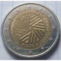 Латвия 2 евро, 2015 Президентство Латвии в Совете ЕС            ( 6-7-2 )