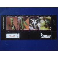 Коста-Рика 2007 Национальный парк, фауна, сцепка Mi-18,5 евро