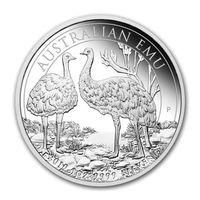 """Серебряная монета Австралии """"Страус Эму"""", 1 oz"""