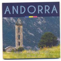 Андорра 2016 Официальный Годовой набор Евро 8 монет BU (улучшенный UNC) номер 16.429