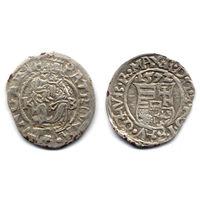 Денарий 1572 KB, Венгрия, Максимилиан II. Коллекционное состояние