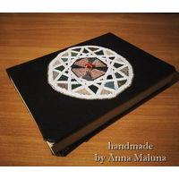 Декорированная суперобложка ручной работы на блокнот (книгу)