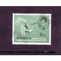 Гана.Ми-2. Кваме Нкрума (1909-1972), премьер-министр, Сип, Карта. 1957