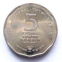 ИЗРАИЛЬ НАБОР 5 ШЕКЕЛЕЙ 1993. ХАНУКА UNC!