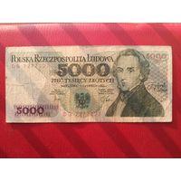 5000 злотых 1982 г.