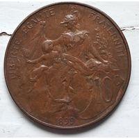 Франция 10 сантимов, 1899 3-12-19