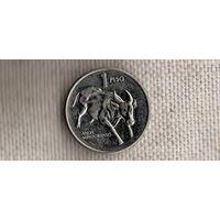 Филиппины 1 песо 1994/фауна/БЫК(Zo)