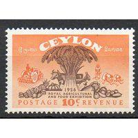 Флора Сельскохозяйственные культуры Цейлон 1955 год чистая серия из 1 марки (М)