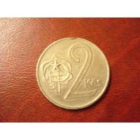 2 кроны 1974 год Чехословакия