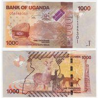 Уганда 1000 шиллингов образца 2015 года UNC