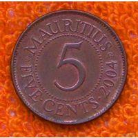 Маврикий 5 центов 2004 года. Инвестируй выгодно в монеты планеты!