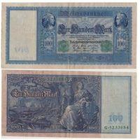 Германия 100 марок 1910 года. Зеленая печать. Более редкий тип!