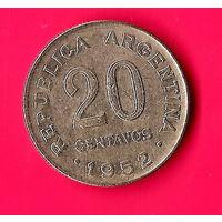 27-42 Аргентина, 20 сентаво 1952 г.