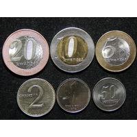 Ангола 50 сантимов,1,2,5,10,20 кванз 1977-2014г