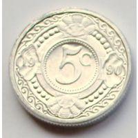 Нидерландские Антилы, 5 центов 1990