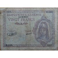 Алжир 20 франков 1943г