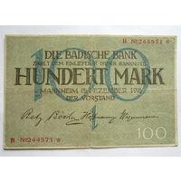 Германия.100 марок 1918г.