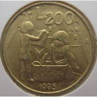 Сан-Марино 200 лир 1995 г. В холдере (gk)