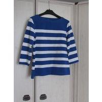 Качественные вещи В подарок к купленной одежде . Блузка Сине-белая полоска. Хлопок. Р-р 46