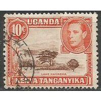Кения Уганда и Танганьика. Король Георг VI. Озеро Найваша. 1938г. Mi#55.