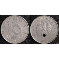 YS: Германия, Третий Рейх, 10 рейхспфеннигов 1943D, КМ# 101