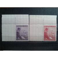 Богемия и Моравия 1943 Фюреру 54 года купон справа, полная серия