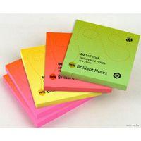 """Бумага для записей на клейкой основе """"Info notes"""" (оранжевый неон; 75 x 75мм; 80 листов)"""
